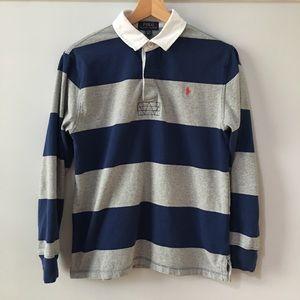 Polo Ralph Lauren Rugby Striped Shirt Blue 14 16